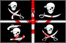 Free Set Of Pirate Flags Royalty Free Stock Image - 19116606