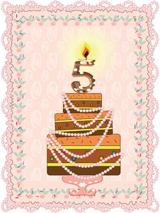 Free Birthday  Background Five Years Stock Photo - 19116820