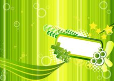 Free Green Illustration With Frame For Text Stock Images - 19117354