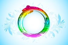 Circle On Abstrac Background Royalty Free Stock Image