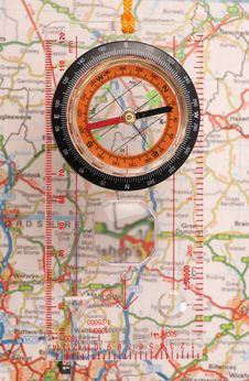 Free Compass And Map Stock Photo - 19118480