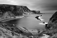 Free Man-o-War Cove B&W Royalty Free Stock Photos - 19118888