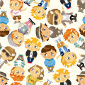 Free Seamless Young Boy Pattern Royalty Free Stock Image - 19124526