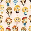 Free Seamless Lady Pattern Stock Photo - 19124530