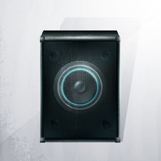 Free Vector Musical Speaker Icon On A Gray Background. Stock Photos - 19120593