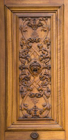 Free Fragment Of Ancient Wooden Door Royalty Free Stock Images - 19121039