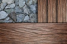 Free Corner Wooden Floor With Stone Royalty Free Stock Photography - 19121707
