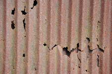 Old Broken Zinc Background Stock Image