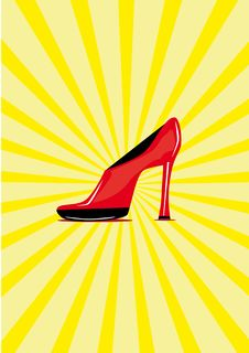 Free Red Shoe On The Isolated Background Stock Photos - 19122873