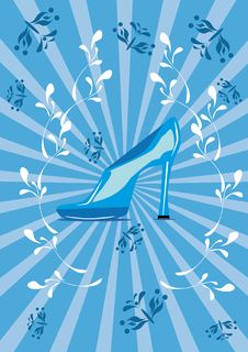 Free Blue Shoe On The Isolated Background Royalty Free Stock Photography - 19122877