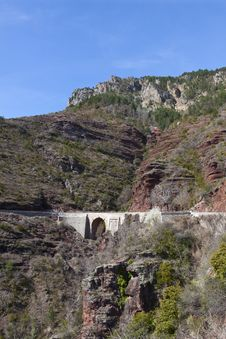 Free Site Of The Gorges Of Daluis, France Stock Images - 19123834