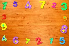 Free Colorful Frame Number On Wood Table Royalty Free Stock Photos - 19124148