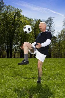 Senior Football Player Royalty Free Stock Photography