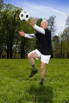 Senior Football Player Royalty Free Stock Image