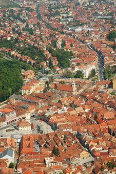 Aerial View Of Brasov City, Romania Stock Photography