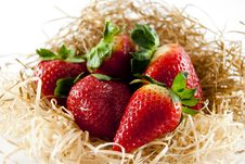 Free Strawberries In Straw Stock Photo - 19124300