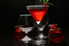 Free Backlit Strawberry Cocktail Royalty Free Stock Photography - 19124357