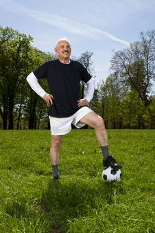 Senior Football Soccer Player Royalty Free Stock Photo