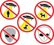 Free Warning Signs For Aliens Stock Photo - 19124930