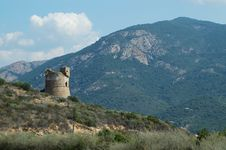Free Genoese Tower In Corsica Royalty Free Stock Photo - 19125245
