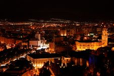 Free Malaga At Night - Cityscape Royalty Free Stock Images - 19125389