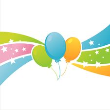 Free Colorful Birthday Balloons Background Stock Image - 19126201