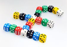 Free Dice In Shape Of Pound Sterling Symbol Stock Photos - 19126393
