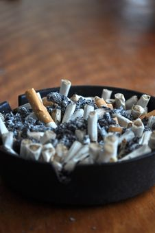 Free Close Up Of Cigarettes In Ashtray Stock Images - 19126464