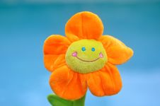 Free Happy Bright Orange Toy Flower Stock Photography - 19126512