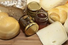 Free Cheese And Honey Stock Image - 19126881