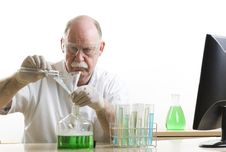 Free Scientist Working With Chemicals Stock Images - 19127344