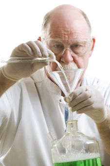 Free Scientist Working With Chemicals Royalty Free Stock Image - 19127346