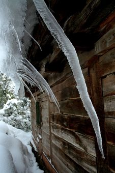 Free Icicles On A Roof Royalty Free Stock Image - 19127566