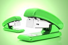 Free Green Staplers Stock Images - 19128234