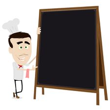 Free Chef Cook Holding A Blackboard Royalty Free Stock Image - 19128446