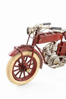 Tin Motorcycle Model Stock Image