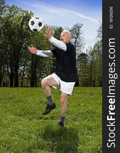 Senior football player