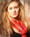 Free Girl With Red Scarf Stock Photo - 19130660