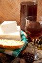 Free White Cheese And Rose Wine Stock Photo - 19139200