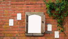 Window On A Wall Royalty Free Stock Photos