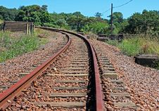 Rusty Railway Line Stock Photo