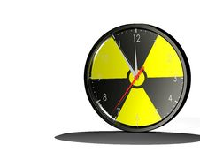 Clock Nuclear Royalty Free Stock Image