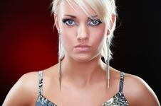 Free Closeup Portrait Of An Elegant Blonde Beauty Royalty Free Stock Photos - 19130358