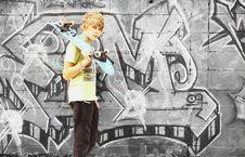 Free Boy With Skateboard Stock Photos - 19130723