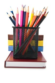 Books And Pencils Stock Images