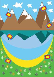 Free Landscape With Mountain Lake Stock Photo - 19131070