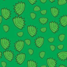 Free Abstract Pattern With Leaves Stock Images - 19131134