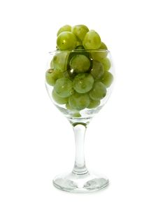 Vine In Glass Stock Photography