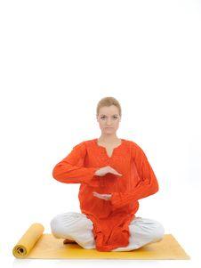 Series Or Yoga Photos. Woman Meditating Stock Image