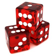 Free Red Dice Royalty Free Stock Image - 19132336